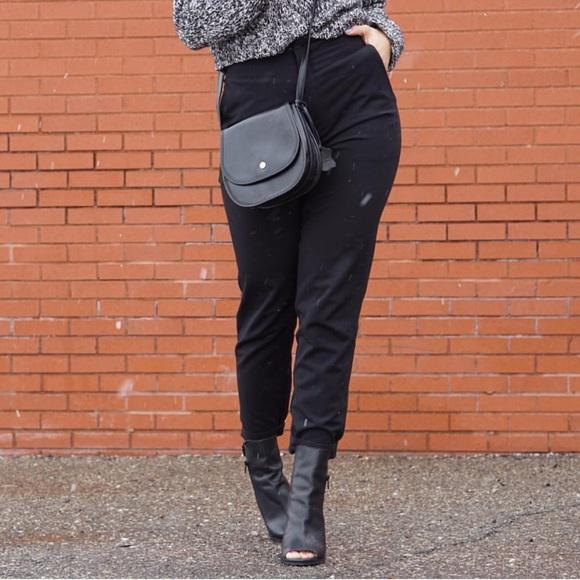 Pants - Black High Waist Trousers